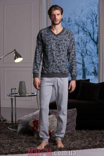 Фото - Серая хлопковая мужская пижама/домашний костюм DU300 antracite Cotonella Cotonella купить в Киеве и Украине