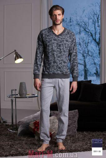 Фото - Синяя хлопковая мужская пижама/домашний костюм DU300 blu Cotonella Cotonella купить в Киеве и Украине
