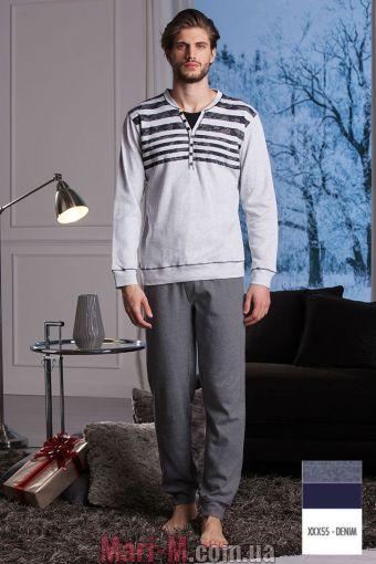 Фото - Синяя хлопковая мужская пижама/домашний костюм DU302 denim Cotonella Cotonella купить в Киеве и Украине