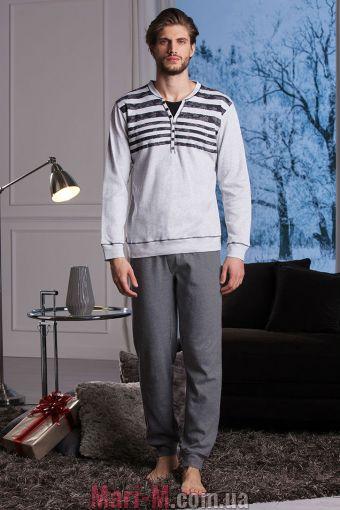 Фото - Серая хлопковая мужская пижама/домашний костюм DU302 grigio Cotonella Cotonella купить в Киеве и Украине