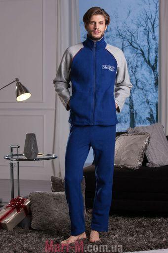 Фото - Синий флисовый мужской домашний костюм DU304 blu Cotonella Cotonella купить в Киеве и Украине