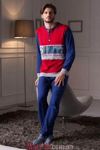 Фото - Красная хлопковая мужская пижама/домашний костюм DU306 rossa Cotonella Cotonella купить в Киеве и Украине