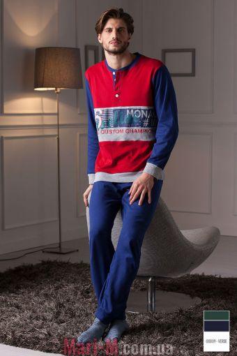 Фото - Зеленая хлопковая мужская пижама/домашний костюм DU306 verde Cotonella Cotonella купить в Киеве и Украине
