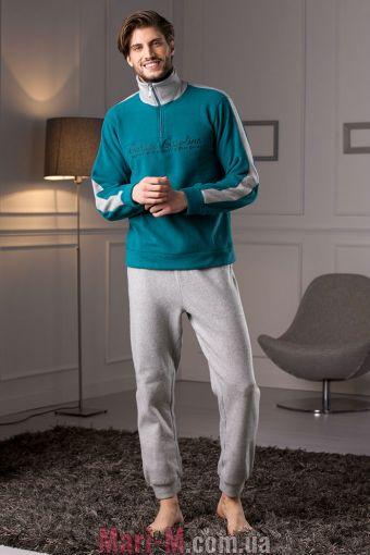 Фото - Зеленая флисовая мужская пижама/домашний костюм DU309 verde Cotonella Cotonella купить в Киеве и Украине