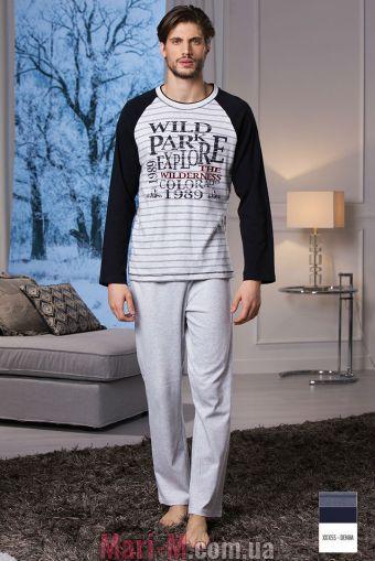 Фото - Синяя хлопковая мужская пижама DU311 denim Cotonella Cotonella купить в Киеве и Украине