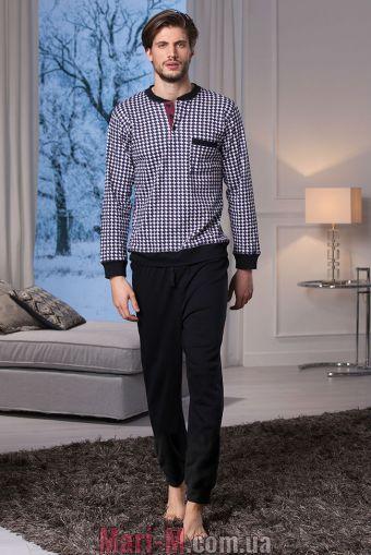 Фото - Темно-серая хлопковая мужская пижама/домашний костюм DU312 atracite Cotonella Cotonella купить в Киеве и Украине