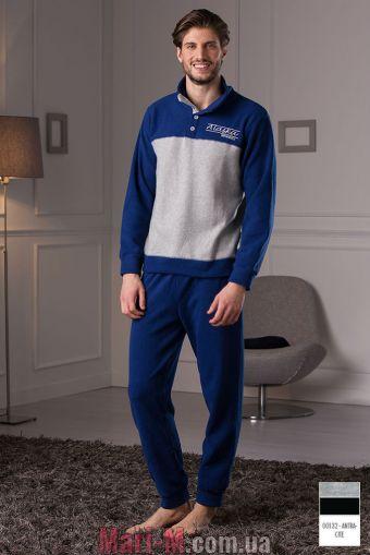 Фото - Темно-серая флисовая мужская пижама/домашний костюм DU314 atracite Cotonella Cotonella купить в Киеве и Украине