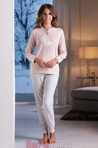 Фото - Розовая женская хлопковая пижама DD865 rosa Cotonella Cotonella купить в Киеве и Украине