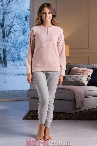 Фото - Розовая флисовая пижама/домашний костюм DD868 rosa Cotonella Cotonella купить в Киеве и Украине