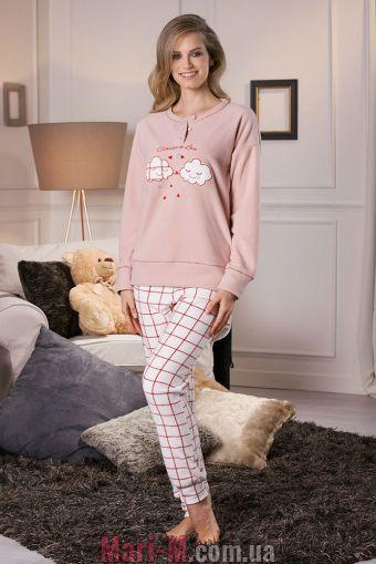 Фото - Флисовая пижама/домашний костюм цвет латте DD876 latte Cotonella Cotonella купить в Киеве и Украине