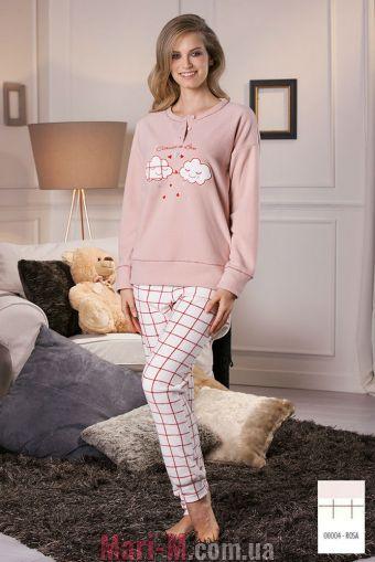 Фото - Розовая флисовая пижама/домашний костюм DD876 rosa Cotonella Cotonella купить в Киеве и Украине