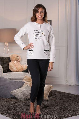 Фото - Флисовая пижама/домашний костюм цвет латте DD877 latte Cotonella Cotonella купить в Киеве и Украине