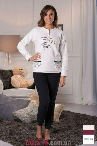 Фото - Розовая флисовая пижама/домашний костюм DD877 rosa Cotonella Cotonella купить в Киеве и Украине