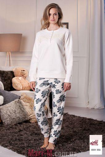 Фото - Розовая флисовая пижама/домашний костюм DD878 rosa Cotonella Cotonella купить в Киеве и Украине