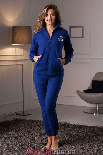 Фото - Синий флисовый домашний костюм DD880 blu Cotonella Cotonella купить в Киеве и Украине