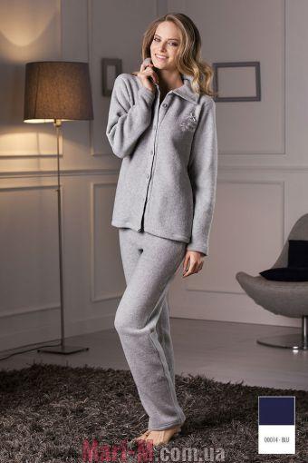 Фото - Синяя флисовая пижама/домашний костюм DD881 blu Cotonella Cotonella купить в Киеве и Украине