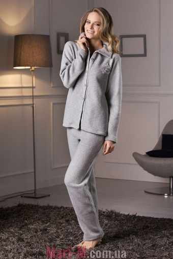 Фото - Серая флисовая пижама/домашний костюм DD881 grigio Cotonella Cotonella купить в Киеве и Украине