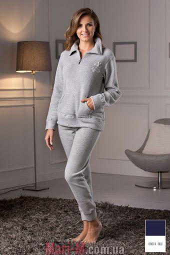Фото - Синяя флисовая пижама/домашний костюм DD882 blu Cotonella Cotonella купить в Киеве и Украине