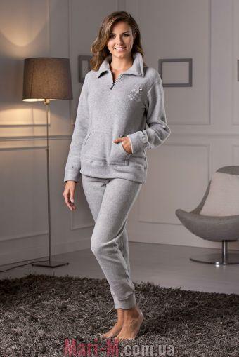 Фото - Серая флисовая пижама/домашний костюм DD882 grigio Cotonella Cotonella купить в Киеве и Украине