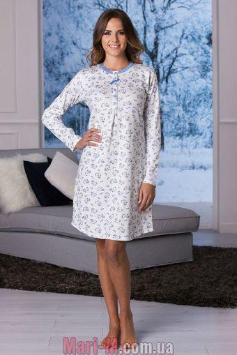Фото - Хлопковая ночная сорочка с лавандовой отделкой DD856 lavanda Cotonella Cotonella купить в Киеве и Украине