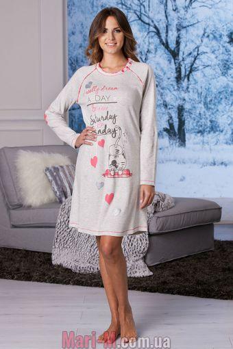 Фото - Песочная хлопковая ночная сорочка DD862 sabbia Cotonella Cotonella купить в Киеве и Украине