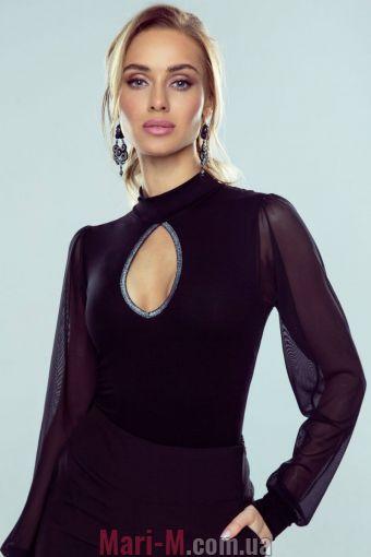 Фото - Блузка из вискозы с вырезом и прозрачными рукавами Christine Eldar Eldar купить в Киеве и Украине