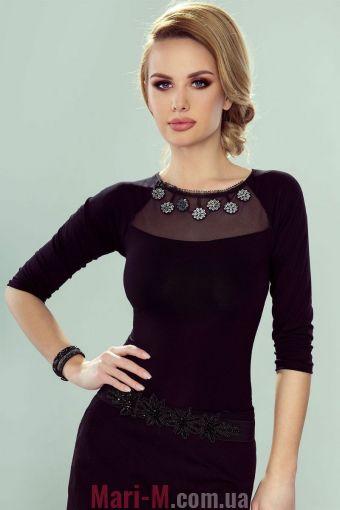 Фото - Блузка из вискозы с ажурной вставкой Corette Eldar Eldar купить в Киеве и Украине