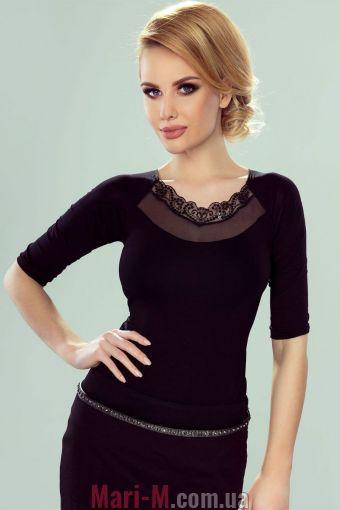 Фото - Блузка из вискозы с ажурной вставкой Dalia Eldar Eldar купить в Киеве и Украине