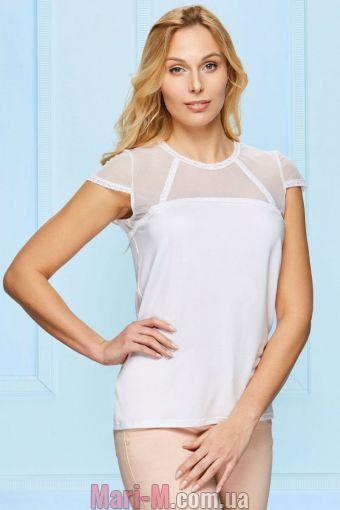 Фото - Белая блузка с гипюром H3/2-4/2 Fabio Fabio купить в Киеве и Украине