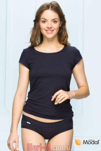 Фото - Темно-синяя женская футболка с короткими рукавами 50/9-86/66 Fabio Fabio купить в Киеве и Украине