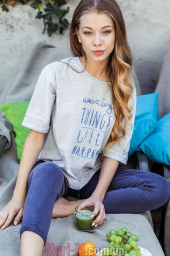 Фото - Женская хлопковая пижама/домашний комплект LHS 802 A7 Key Key купить в Киеве и Украине