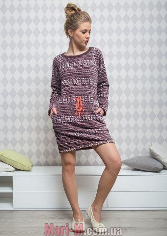 Фото - Женское флисовое платье LHD 954 B5 Key Key купить в Киеве и Украине