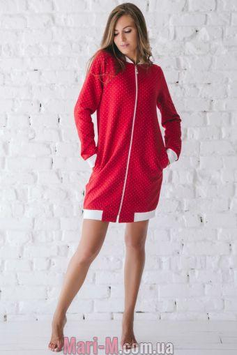 Фото - Хлопковый женский халат на молнии 522 Wiktoria Wiktoria купить в Киеве и Украине