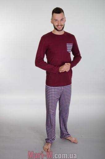Фото - Мужская хлопковая пижама 143 Wiktoria (несколько цветов) Wiktoria купить в Киеве и Украине