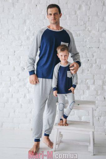 Фото - Хлопковая мужская пижама 516 Wiktoria Wiktoria купить в Киеве и Украине