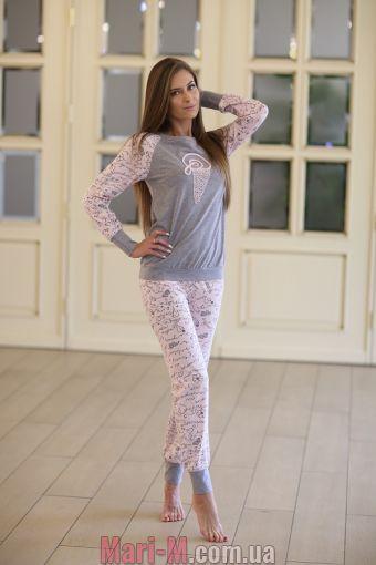Фото - Женская хлопковая пижама 337 Wiktoria  Wiktoria купить в Киеве и Украине