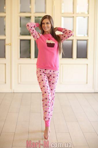 Фото - Женская хлопковая пижама 339 Wiktoria  Wiktoria купить в Киеве и Украине