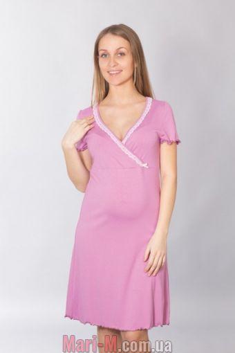 Фото - Хлопковая сорочка для беременных и кормящих мам 094 Wiktoria (несколько цветов) Wiktoria купить в Киеве и Украине