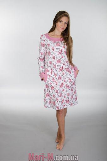 Фото - Ночная сорочка с длинным рукавом 117 Wiktoria  Wiktoria купить в Киеве и Украине