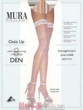 Фото - Чулки с кружевной резинкой 205 Oasis up 8 den Mura Mura купить в Киеве и Украине