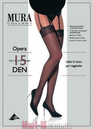 Фото - Чулки под пояс 227 Opera 15den Mura Mura купить в Киеве и Украине