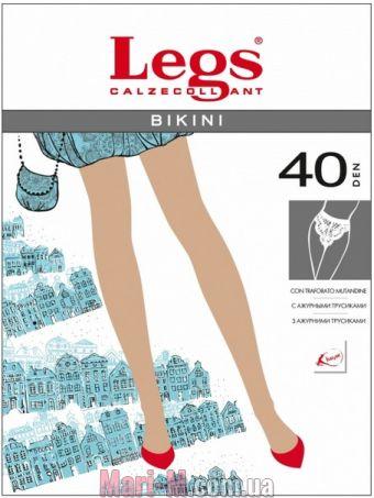 Фото - Тонкие прозрачные колготки с кружевными трусиками 261 Bikini 40del Legs Legs купить в Киеве и Украине