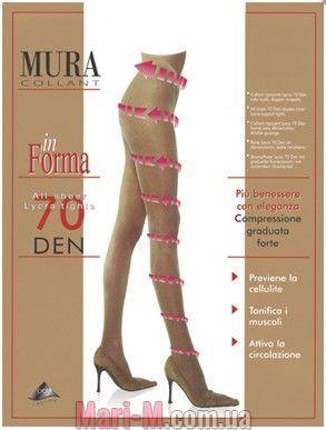 Фото - Поддерживающие колготки 70den 870 In Forma Mura Mura купить в Киеве и Украине