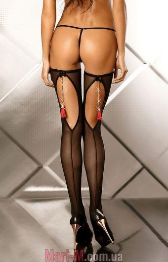 Фото - Черные чулки с кисточками Boudoir Lolitta Lolitta купить в Киеве и Украине