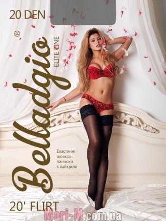 Фото - Чулки с кружевом на силиконе Flirt 20den Belladgio  Belladgio купить в Киеве и Украине