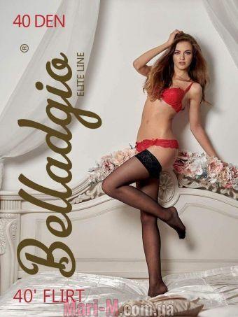 Фото - Чулки с кружевом на силиконе Flirt 40den Belladgio Belladgio купить в Киеве и Украине