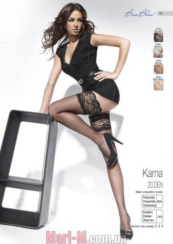 Фото - Чулки с широким кружевом на силиконе Kama 20 den Bas Bleu  BasBleu купить в Киеве и Украине