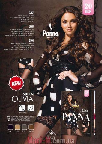 Фото - Чулки с кружевом на силиконе Olivia 20den Panna Panna купить в Киеве и Украине