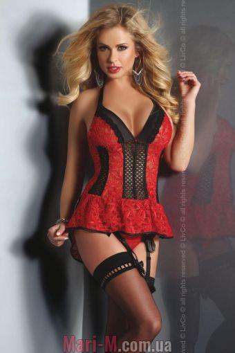Фото - Страстный женский корсет Red Rose Livia Corsetti Livia Corsetti купить в Киеве и Украине