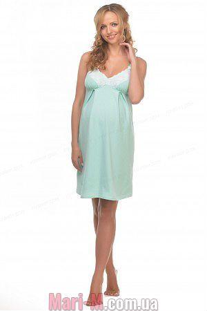 Фото - Хлопковая ночная рубашка для беременных и кормящих 24127 Мамин дом  Мамин дом купить в Киеве и Украине